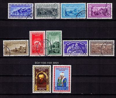Turkey,1953 Conquest Of Constantinople Sc#1090-1098;1100-1101 Used+ Mnh