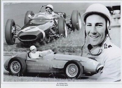Sir Stirling Moss signed print with COA and presentation envelope