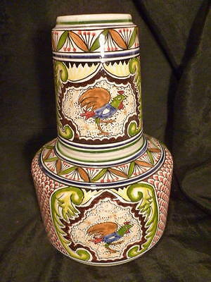Gorgeous Art Ceramica De Coimbra Portugal Hand Painted Tumble Up Rare ! And Cool