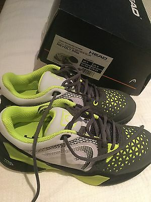 head revolt pro men's tennis shoes grey/neon yellow size 40.5