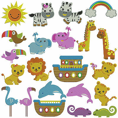 NOAH'S ARK * Machine Embroidery Patterns * 22 designs