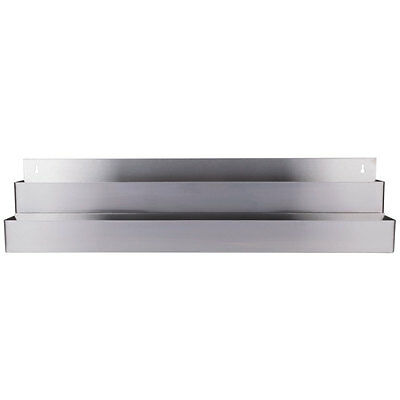 """42"""" Silver Stainless Steel Double Tier Commercial Bar Speed Rail Rack"""
