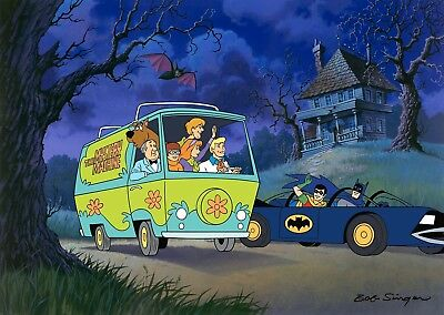 Scooby-Doo Meets Batman and Robin Hanna Barbera LE 100 Hand Painted Cel