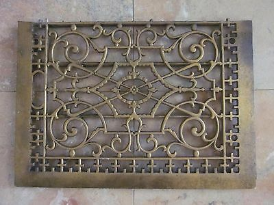 "Antique Gas Fireplace Insert Grate Register 16-3/4"" x 11-7/8"""