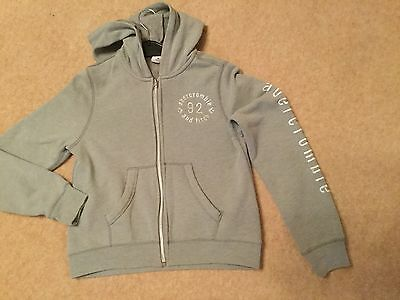 Girls Abercrombie Hooded Top Size Medium Age 10-12 years Grey