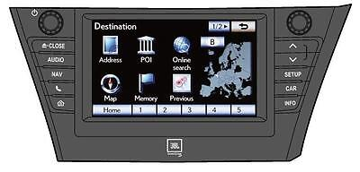 Lexus / Toyota Touch Pro (11HDD)  Navigation MAP UPDATE EUROPE 2016