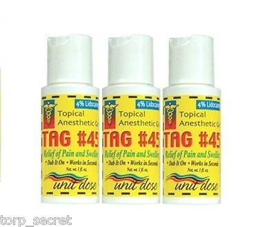 3 x Topical Anesthetic Gel for Relief Numbing midway PainTattoo 1oz TAG 45
