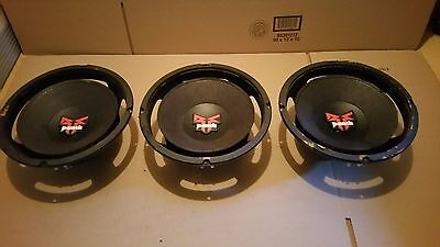 "Rockford Fosgate Punch 10"" Set of 3 Subwoofers Subs Need Refoam"