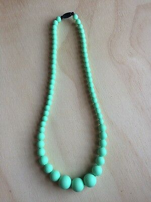 Silicone teething necklace mum safe jewellery baby safe mint green chewbeads