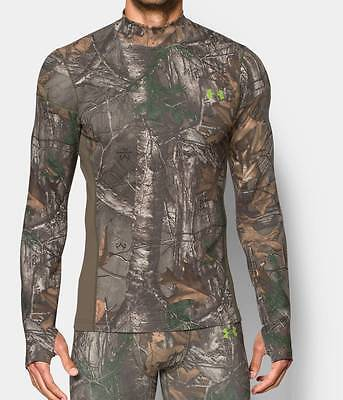 Under Armour Men's UA ColdGear Infrared Scent Control Hunting Mock Realtree Xtra