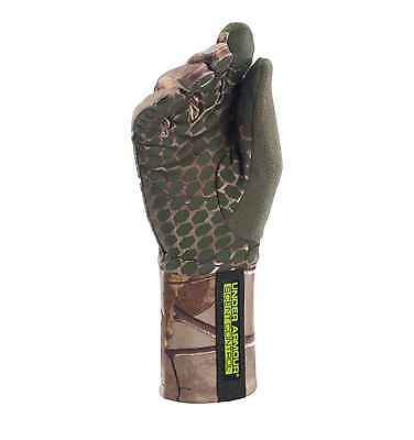 Under Armour Women's UA ColdGear Scent Control Camo Hunting Gloves Realtree NWT