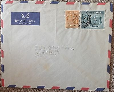 Cyprus Qeii 1958 Cover Addressed To Germany