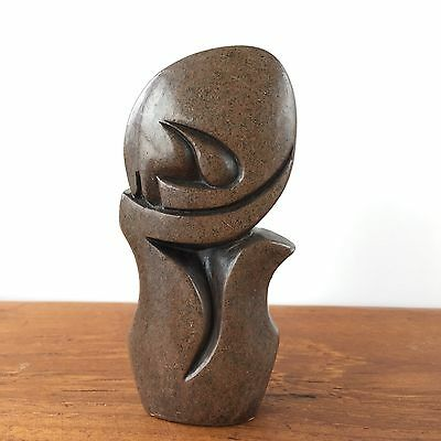 Vintage AFRICAN TRIBAL ABSTRACT Sculpture Carved STONE Figure Statue Art #211