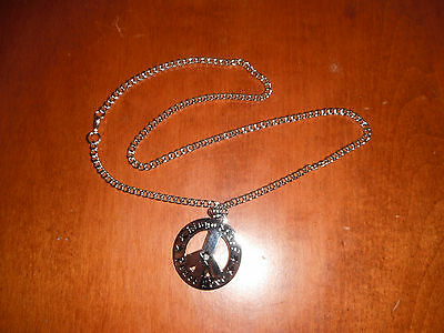 Ringo Starr peace love necklace with peace sign pendant !