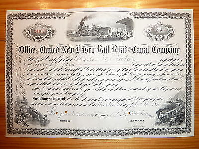 RR: 1896 !!! United New Jersey RR & Canal Co./  3 Abb.**
