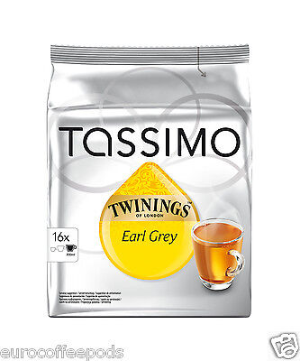 Tassimo Twinings Earl Grey Tea 2 Packs 32 T-Discs / Servings