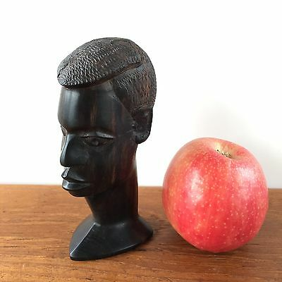 Vintage African EBONY TRIBAL HUMAN Sculpture WOODEN Carved Statues Art #216
