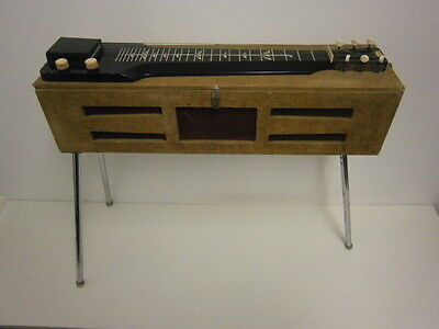 Harmony Lap Steel Amp In Case Guitar Vintage Rare Unique