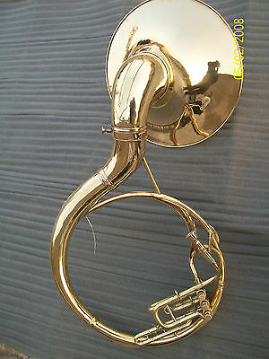 """Sousaphone 22"""" Bell Of Pure Brass (Brass Polish) +Case + Mouthpc(New Year Offer)"""