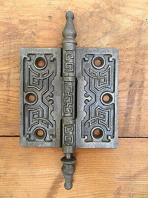 "Vintage Architectural Salvage Ornate Victorian 3 1/2"" X 3 1/2"" Door Hinge"
