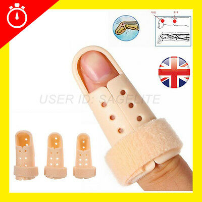 Plastic Finger Thumb Injury Splint DIP PIP Joint Support Mallet Fracture Brace