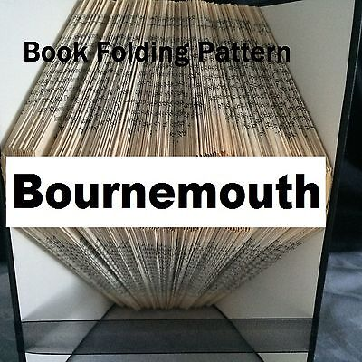 Book folding Bournemouth  book folded Pattern for any Fan (pattern only)