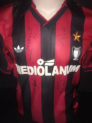 Signed Retro Massaro, Baresi And More AC Milan Home Shirt