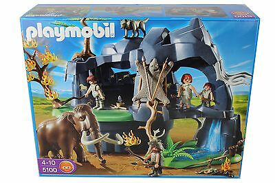 PLAYMOBIL 5100 Große Steinzeithöhle mit Mammut / Stone Age Cave with Mammoth NEW