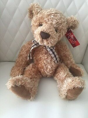 """NWT RUSS Berrie Cromwell Teddy Bear 14"""" Jointed"""