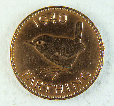 1940 George VI Farthing; Old album collection!
