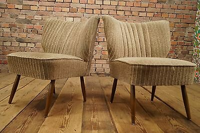 50s Retro 2x COCKTAIL CHAIR DANISH CHAIRS ARMCHAIRS FAUTEUIL Vintage STILNOVO