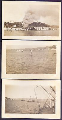 K 229,turkey,occupation Of Constantinople,3 Real Photo Postcards,royal Navy
