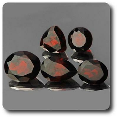 GARNET Red. 19.96 cts. 5 pieces IF-VVS. Africa