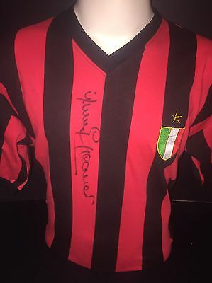 Signed Retro Jimmy Greaves Rare AC Milan Home Shirt