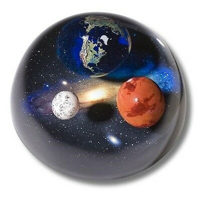Shasta Visions Andromedome Paperweight, Earth, Mars & Moon, 4-Inch Diameter