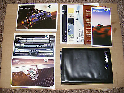 Skoda Fabia Handbook Pack Owners Manual Wallet Service Book 1999-2007