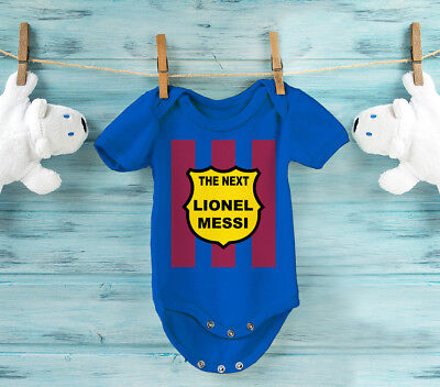 Baby's FC Barcelona football team inspired The next Lionel Messi bodysuit onesie
