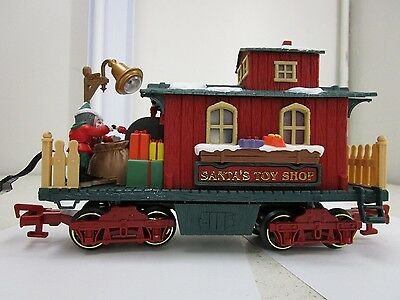 New Bright Holiday Express #384 Santa's Toy Shop Christmas Train Car G Scale
