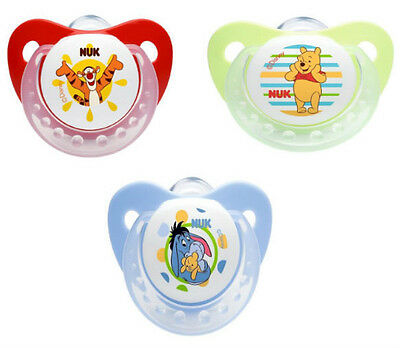 Nuk Disney Soother Silicone with GARY - WINNIE - TIGER SIZE 1-SIZE 2