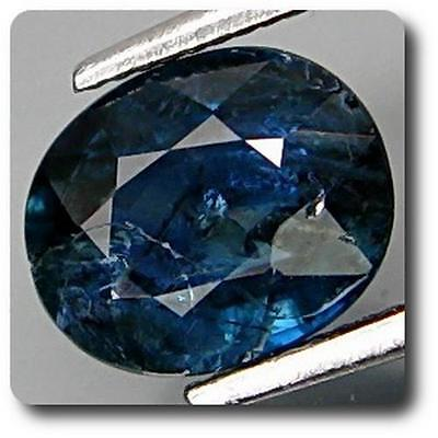 SAPPHIRE BLUE 1.34 cts. SI. NON HEATED Africa. With Certificate of authenticity