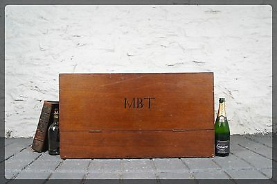 Vintage Industrial Instrument Case / Chest / Trunk / Box - M.B.T Initials
