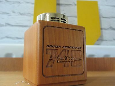 Retro British aerospace 748  wooden table lighter collectable plane