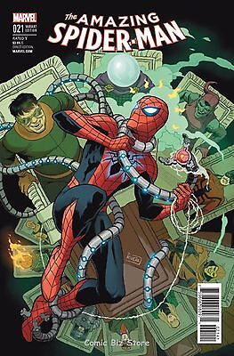 Amazing Spider-Man #21 (2016) Scarce 1:25 Rivera Variant Cover Clone Conspiracy