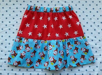 New Girls Christmas Frilly Santa Claus Skirt. Stars. Age 5-7. Quirky Xmas Jumper
