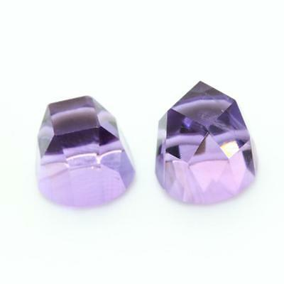 AMETHYST . 2 pieces 3.35 cts. VVS1 . Africa