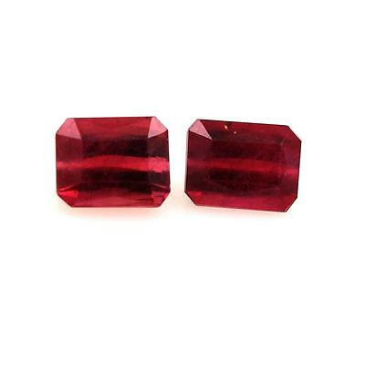 RUBY RED BLOOD. 3.70 cts. 2 pieces VS. Madagascar