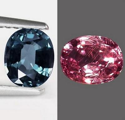 GARNET BLUE COLOR CHANGING 0.83ct. VVS Madagascar With Certificate
