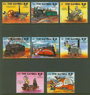 Gambia #709-16 Mint, Vf, Nh - Trains