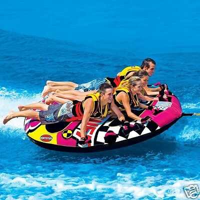 Sportsstuff Wet n' Wild Flyer Inflatable Four Person Deck Tube Ringo