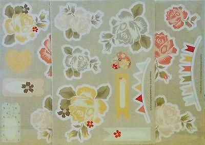 Chipboard Die Cuts - Roses - Pink and Yellow - 3 packs of 2 A5 sheets